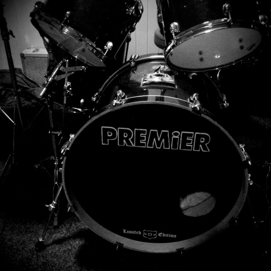 Vintage Premier Drums set up and tuned in D. Tomorrow recordings Rosa Sky